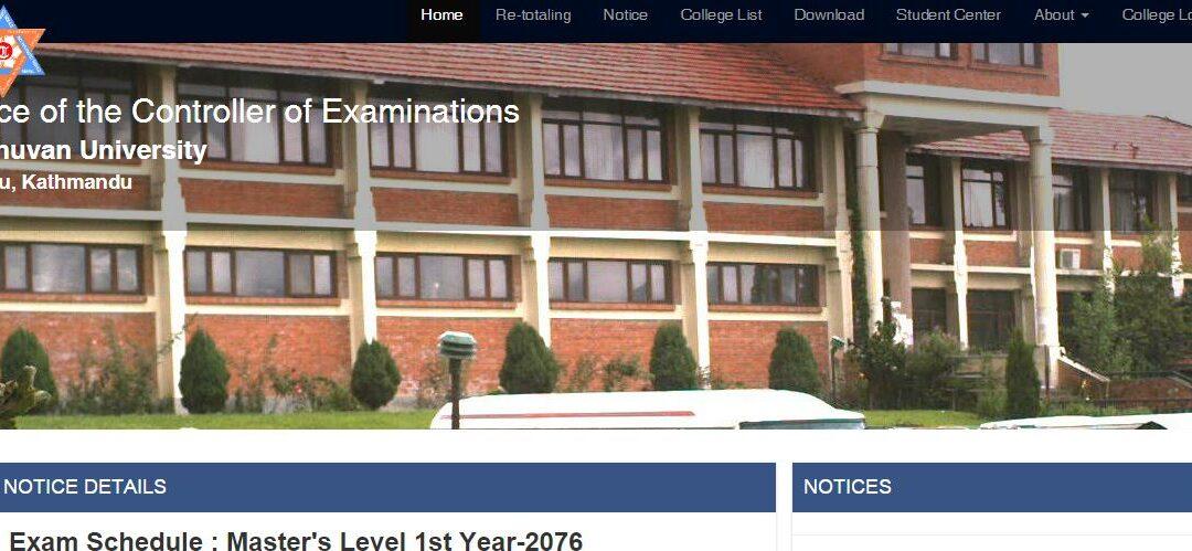 Exam Schedule : Master's Level 1st Year-2076