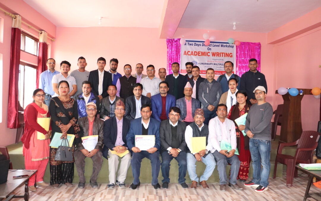 Workshop on Research Paper Writing Hedaded by Prof. Dr. Mahananda Chalise